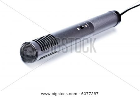 Gray Condenser Microphone