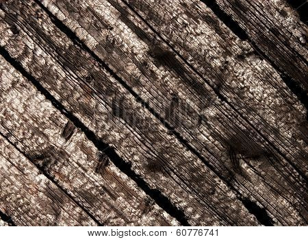 Burnt Wood Planks