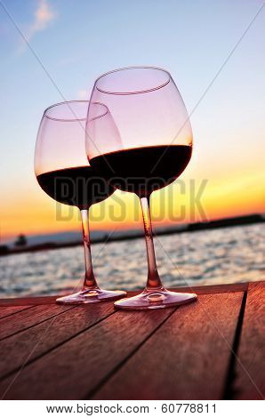 couple of glass wine