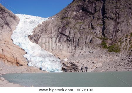 Briksdal Glacier in Norway.