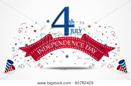 Independence day celebration with confetti