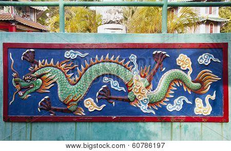 Dragon Relief At Haw Par Villa