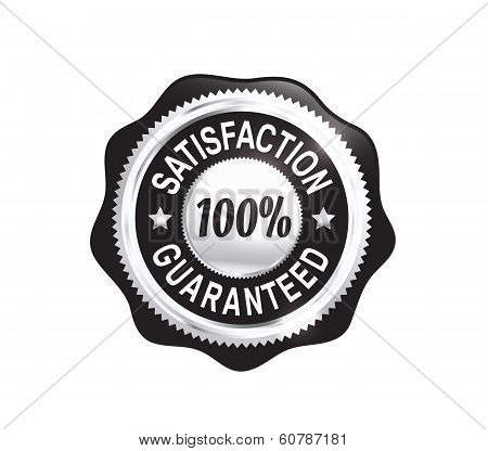 Silver Satisfaction Guaranteed Badge