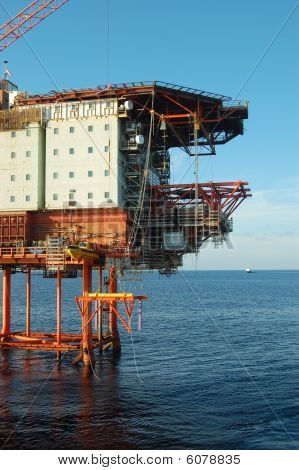 Fixed platform in the North Sea.