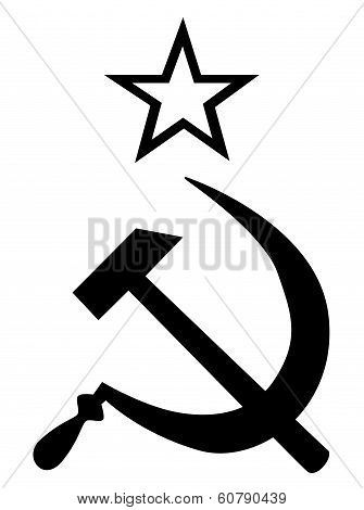Hammer And Sickle Black And White