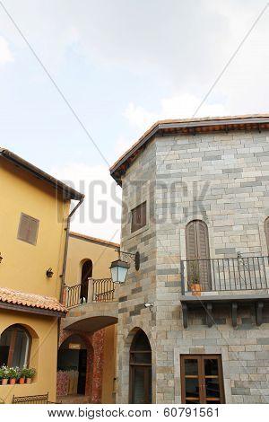 NAKORN RATCHASIMA THAILAND -2014 FEB 25 : Primo Piazza Khao Yai,Tuscana-village Italian style buildi