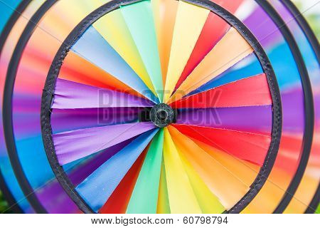 Colorful Pinwheel Are  Spinning