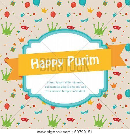 Happy Purim. Party Invitation design