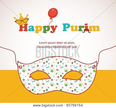 Happy Purim. Party Invitation design