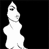 image of nacked  - Beautiful nude woman with black hair - JPG