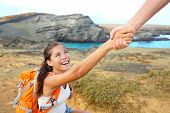 stock photo of hawaiian girl  - Helping hand  - JPG