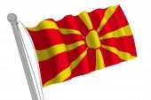 Macedonia Flag On Pole