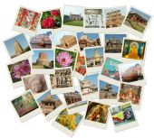 Stack Of Photo Shots With Central And Nothern India Landmarks poster