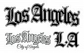 stock photo of gangsta  - Vector illustration of Los Angeles and L - JPG