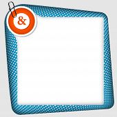 foto of ampersand  - vector frame for inserting text with ampersand - JPG