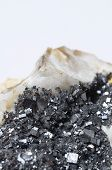 picture of iron pyrite  - Close up of iron Pyrite mineral stone - JPG