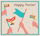 stock photo of purim  - Happy Purim - JPG