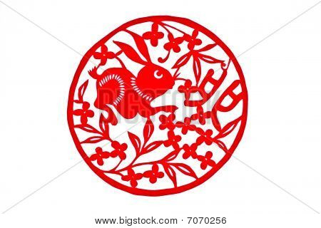 Chinese folk handicrafts Rabbit