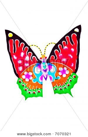 Butterfly Chinese folk paper-cut crafts