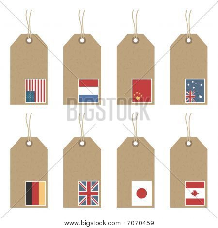 tags with flags