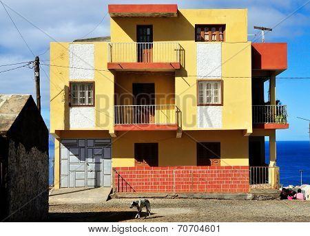 Colorful Concrete Home