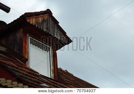 Vintage Wooden Dormer Window