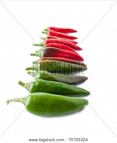 Color Transition With A Hot Peppers