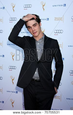 LOS ANGELES - AUG 23:  RJ Mitte at the Television Academy's Perfomers Nominee Reception at Pacific Design Center on August 23, 2014 in West Hollywood, CA