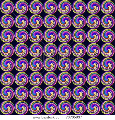 Seamless Background With Geometric Pattern Of Vortices