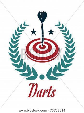 Darts sporting emblem