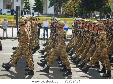 Anti-diversion Squad Of The Ukrainian Army At The Military Parade In Kyiv, Ukraine