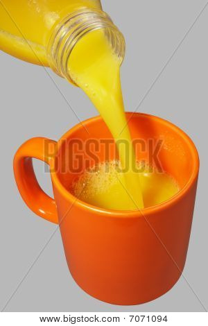 Orange Mug And Bottle