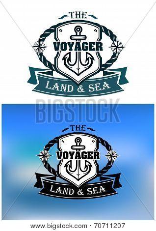 Heraldic marine shield