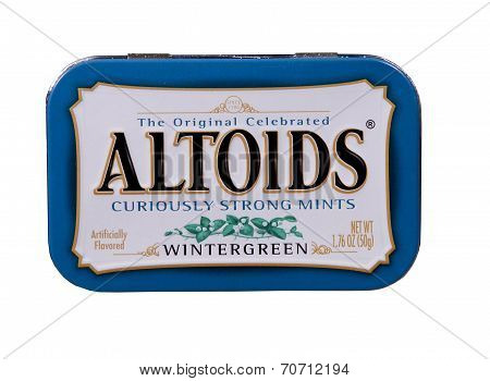 Tin Of Altoids Wintergreen Mints