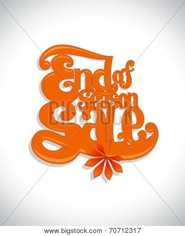 End of season sale typographic design template.