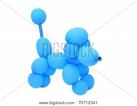 dog created with balloon
