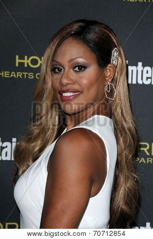 LOS ANGELES - AUG 23:  Laverne Cox at the 2014 Entertainment Weekly Pre-Emmy Party at Fig & Olive on August 23, 2014 in West Hollywood, CA