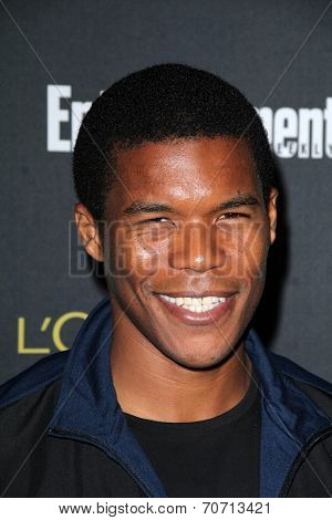 LOS ANGELES - AUG 23:  Gaius Charles at the 2014 Entertainment Weekly Pre-Emmy Party at Fig & Olive on August 23, 2014 in West Hollywood, CA