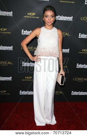 LOS ANGELES - AUG 23:  Sarah Hyland at the 2014 Entertainment Weekly Pre-Emmy Party at Fig & Olive on August 23, 2014 in West Hollywood, CA