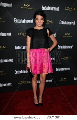 LOS ANGELES - AUG 23:  Karla Souza at the 2014 Entertainment Weekly Pre-Emmy Party at Fig & Olive on August 23, 2014 in West Hollywood, CA
