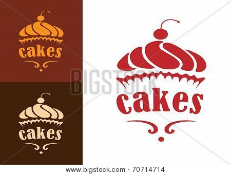 Cakes bakery emblem