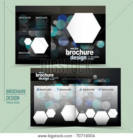 Modern Twinkle Lights Half-fold Template Brochure