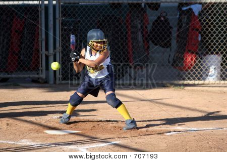 Softball Batter Not Swinging