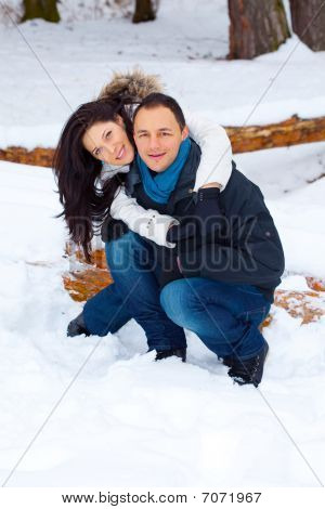 Young Happy Couple Playing