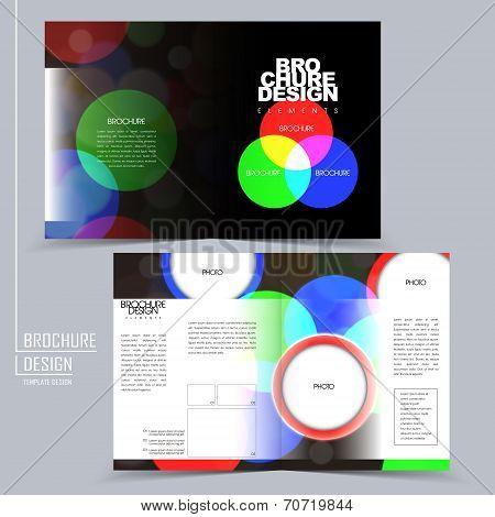 Rgb Color Style Half-fold Brochure Template