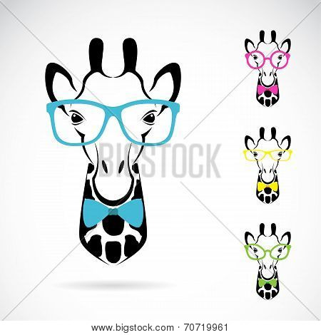 Vector image of a giraffe glasses