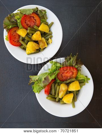 Two  Plates Of French String Beans