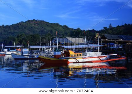 Boats In The Tropical Bay