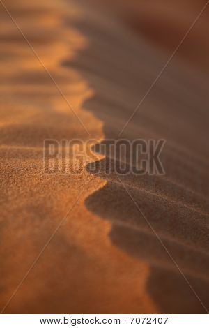 Closeup Rippled Sand Dune