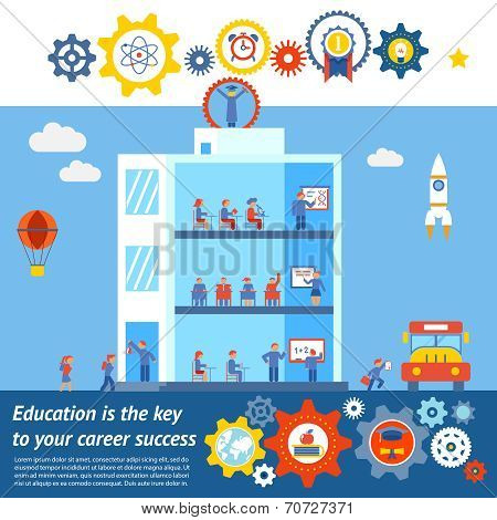 Seamless Vector Education to Success Design